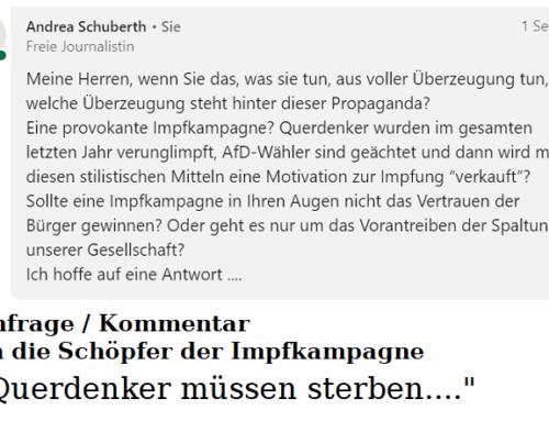 """QUERDENKER MÜSSEN STERBEN"""