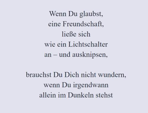 """Freundschaft """"on – off"""""""