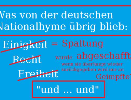 2021 – Was von der deutschen Nationalhymne übrig blieb