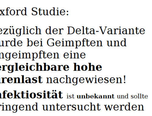 OXFORD STUDIE – August 2021 zur Deltavariante