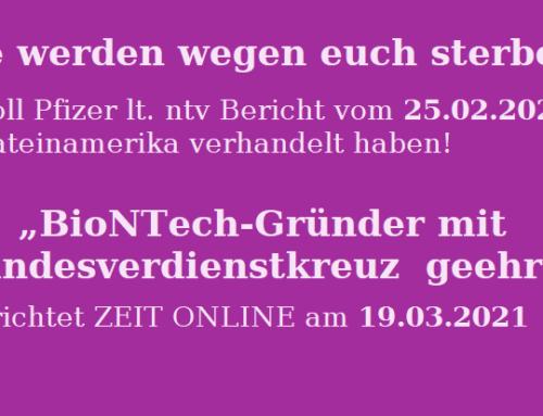 Pfizer verhandelt eisenhart – BioNTech-Gründer erhält Bundesverdienstkreuz