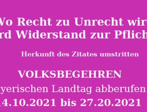 Bayern: Bündnis Landtag abberufen